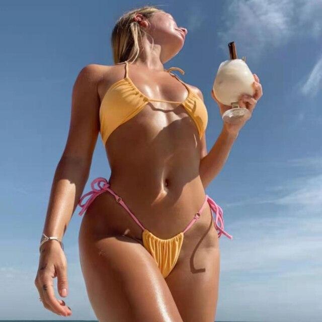 Bikini Swimsuit Halter Push Up Swimwear  3