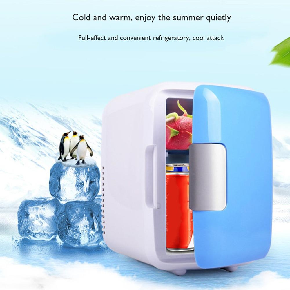 4L Car Refrigerator Car Portable Mini Refrigerator Heating And Cooling Box With Cup Holder Professional