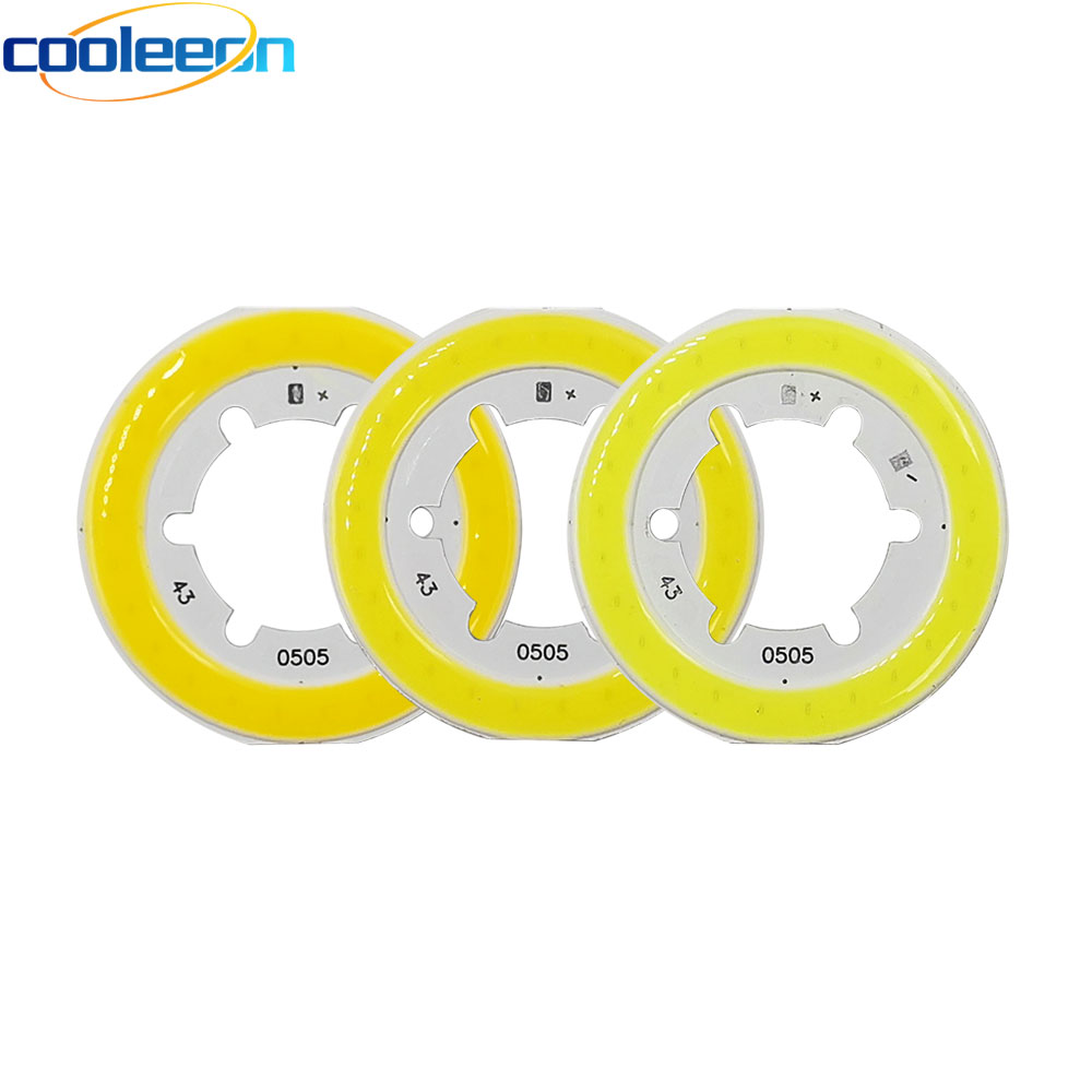 43mm Diamter Round Ring Shape COB LED Light Bulb Chip On Board Natural Warm White Emitting Color 5W 15V LED Lamp Bulbs For DIY