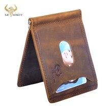 Purse Money-Clip Bill Fashion Wallet Front-Pocket Genuine-Leather Design Male Mini