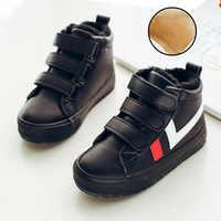 2019 Winter Kinder Stiefel Kinder Baumwolle Schuhe Jungen Baumwolle Schuhe Plus Outdoor Samt Warme Stiefel Mädchen Winter Schuhe Winter Stiefel kinder
