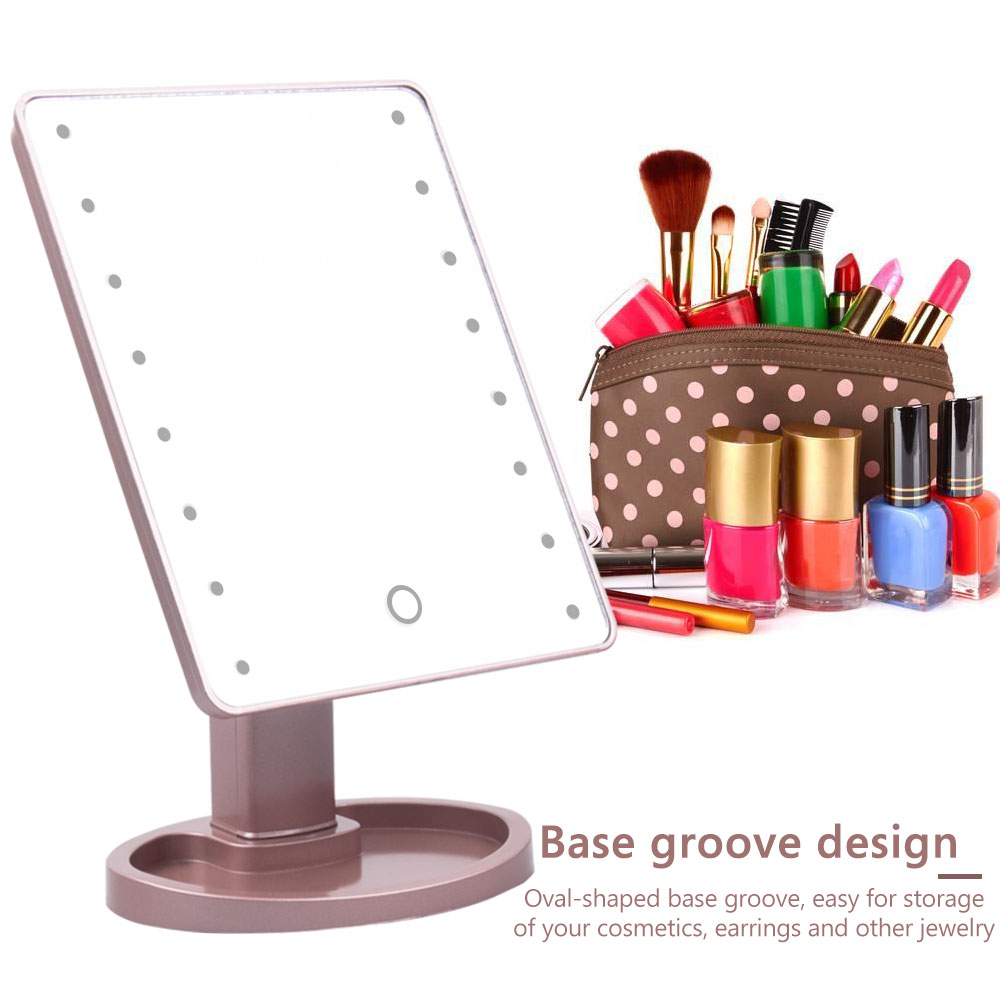 22 LED Lighted Makeup Mirror Touch Screen Magnifying Mirror-Gift Ideas