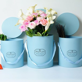 3pcs/set Flowers Round packing box Holding bucket gift box  wedding candy party gift packing box free shipping