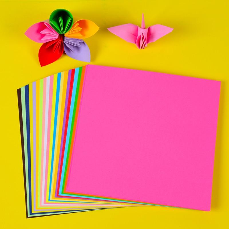 Children's Students' Color Handmade Origami Paper Crane Kindergarten DIY Production Materials Square Colored Paper