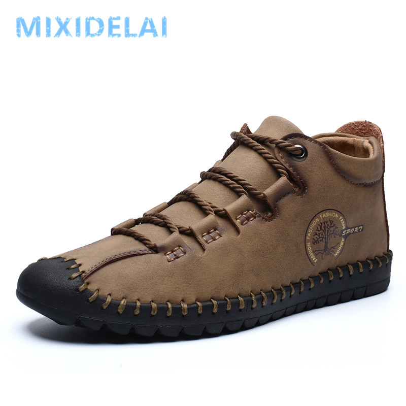 Men's Spring New Fashion Lace-up Casual Shoes Men High-top Outdoor Casual Breathable Men's Ultra-light Shoes Moccasins Shoes