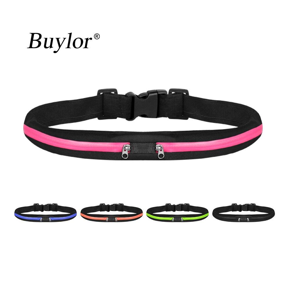 Buylor Running Waist Belt Bag Women Men Sports Bumbag Waterproof  Portable Waist Pack Outdoor Phone Pouch  For Cycling Hiking