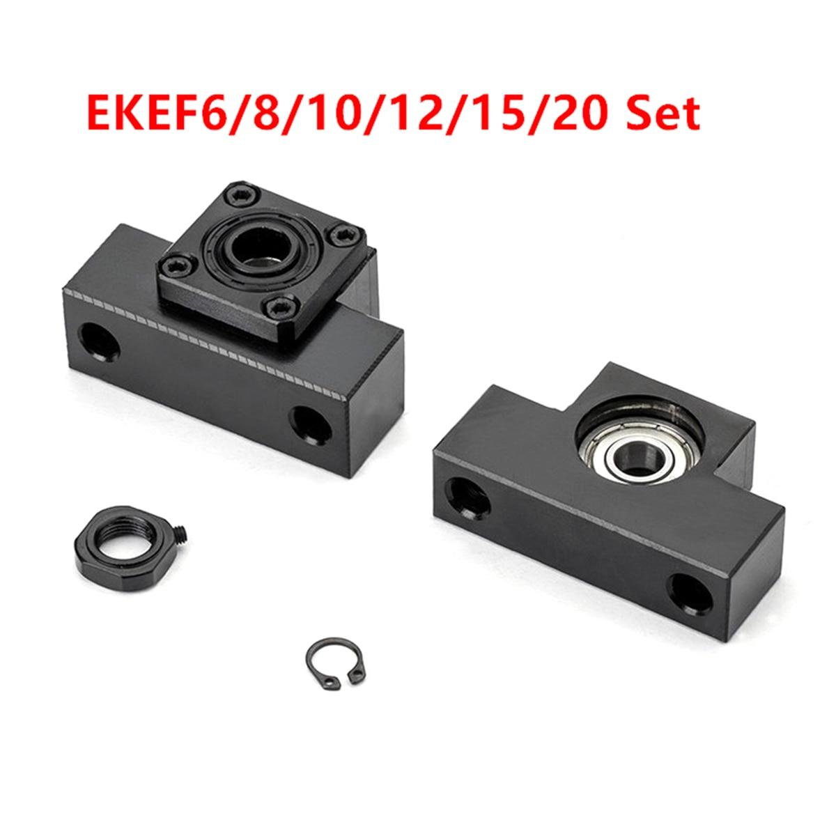 1 pièces EK 6 8 10 12 15 20 EF6 8 10 12 15 20 D'extrémité de Vis À Billes Support Fixé Côté CNC Partie
