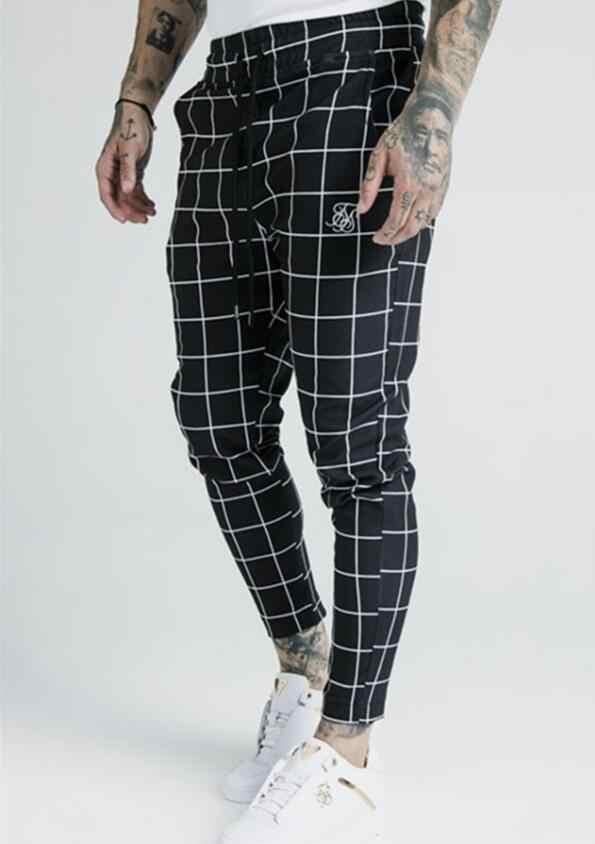 Sik Silk Pantalones De Chandal Informales Para Hombre Nuevo A Cuadros A La Moda 2020 Pantalones Informales Aliexpress