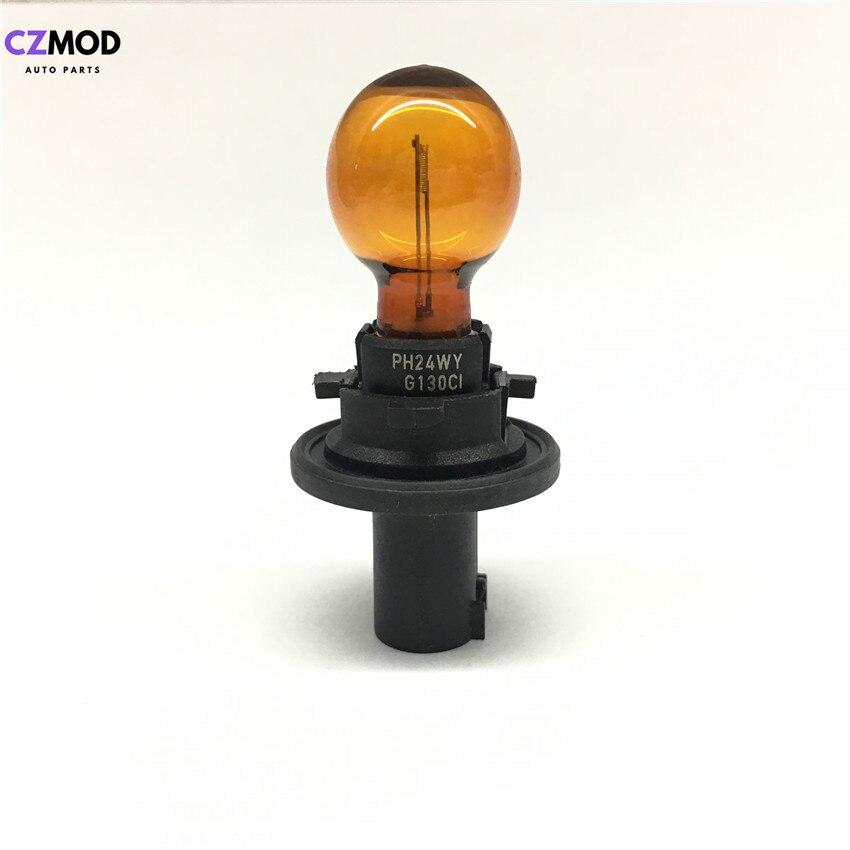 CZMOD Original PH24WY 12V 24W Amber Color Turn Signal Light Car Bulb PH24WY Car Accessories(Used)