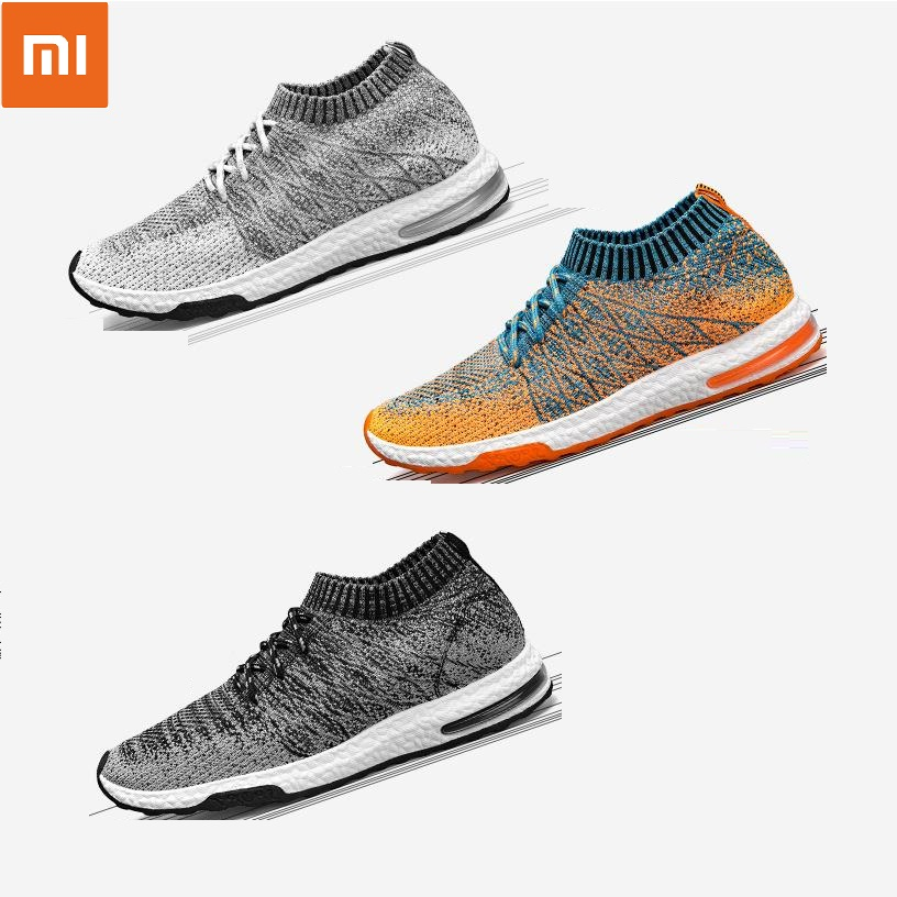 Xiaomi Mijia Sneakers Men s Outdoor Shoes Light Breathable Knitting Male Running Shoes Size 39-46 Smart Sporting Shoes Dropship