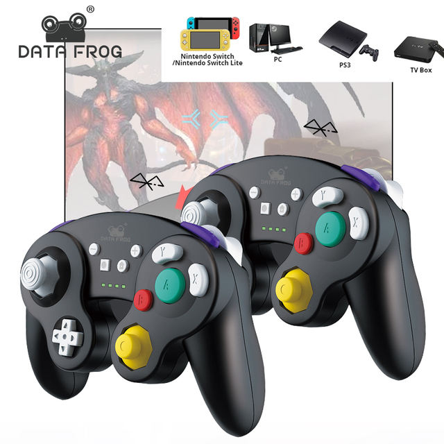 Data Frog mando inalámbrico Compatible con Bluetooth, para Nintendo Switch/ Switch Pro, PS3, Android TV/ PC