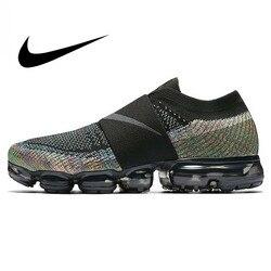 Оригинальная Радужная подушечка Nike Air VaporMax Moc, мужские кроссовки для бега, спортивные кроссовки для улицы, противоскользящие сетчатые дышащ...