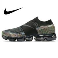 Original Nike Air VaporMax Moc Rainbow Cushion Men's Running Shoes Sports Sneakers Outdoor Anti skid Mesh Breathable AH3397 003
