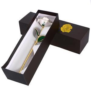 Image 5 - חג אהבת מתנת יום הולדת מתנת 24k זהב מצופה עלה עם תיבת אריזת מתנה יום הולדת אמא של יום מתנת יום נישואים