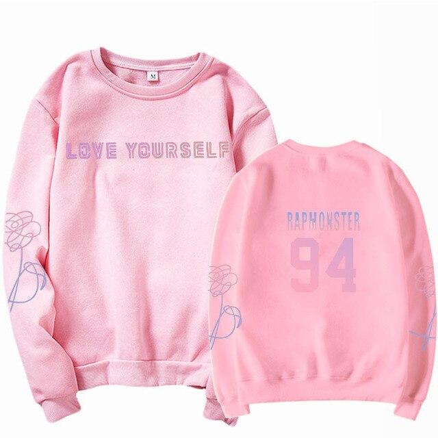 jungkook Unisex hoody kpop suga93 hoodies love KPOP weatshirt love yourself KPOP hoody sweatshirt  harajuku hoodies 5