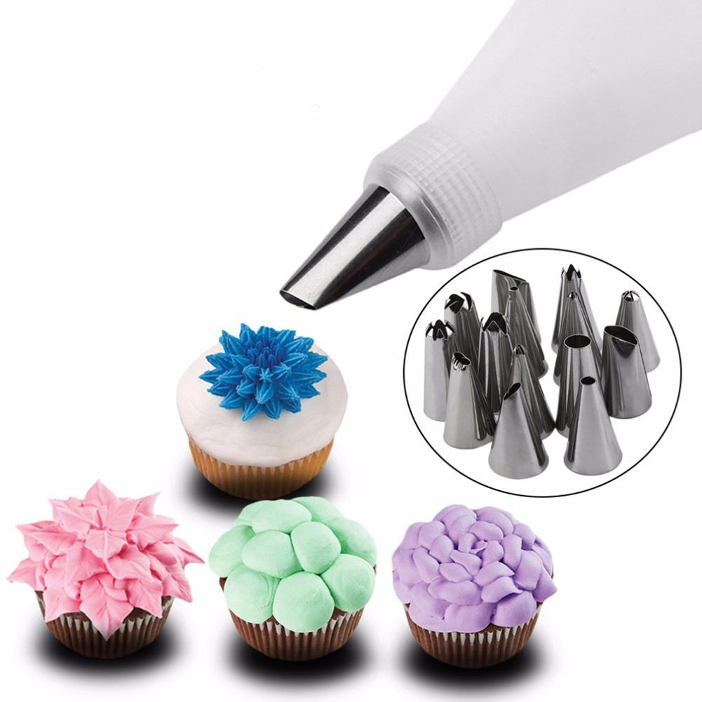 16Pcs/Set Flower Icing Nozzles Cream Pastry Bag Cake Decoration Baking Tools Kitchen,Dining & Bar Supplies