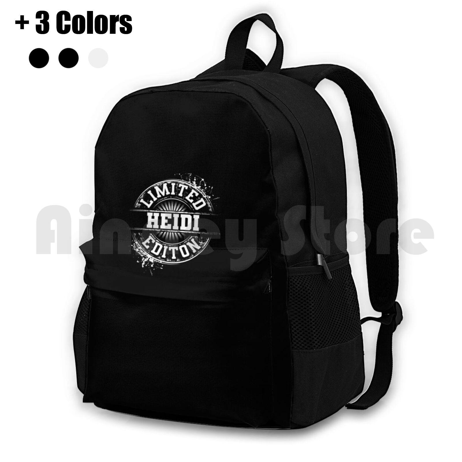 Heidi – sac à dos de randonnée en plein air étanche, édition limitée, idée de cadeau avec nom personnalisé drôle, idéal pour le Camping ou les voyages