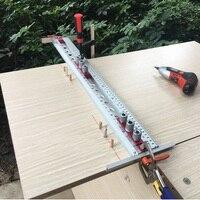 Localizador de perforación 2 en 1, conector Invisible, broca autoajustable, Kit de guía para muebles, armario, carpintería, herramientas de bricolaje