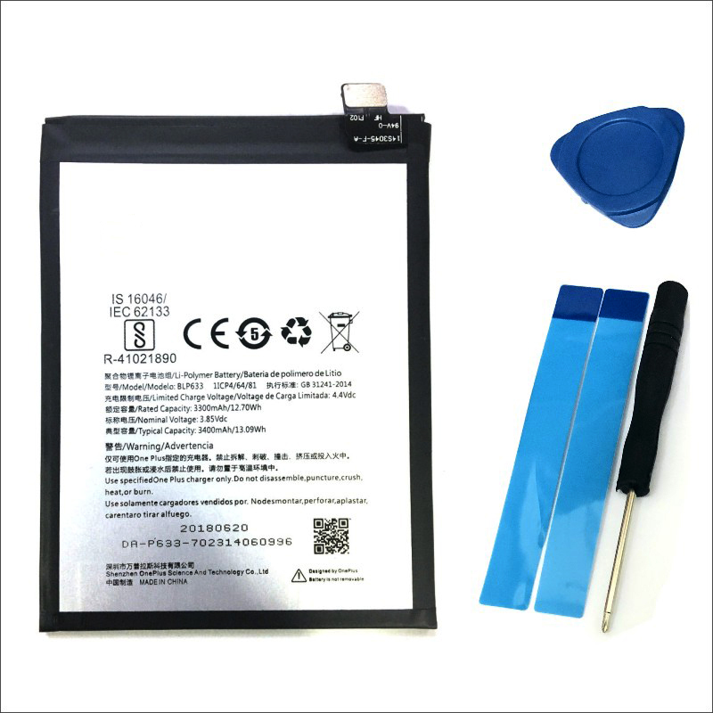 Alta Qualidade 3400mAh para Oneplus BLP633 3T Bateria de Substituição para Oneplus Três T Smartphones