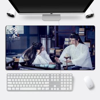 DIY Custom The Untamed podkładka pod mysz Xiao Zhan Wang yibo duża podkładka pod mysz gamingową zabezpieczona krawędź 60x30cm fajna trwała mata na biurko do komputera tanie i dobre opinie SIANCS Rubber 60x30cm Mouse pad with Wrist Rest Zdjęcie Large Mouse pad Gaming Mouse pad custom desk pads desk mat