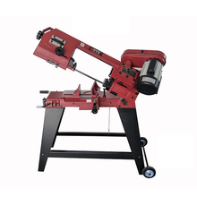 Portable Metal Band Sawing Machine Woodworking Standing Down Band Saw Small Multifunction Pipe Bar Cutting Sawing Machine New