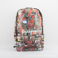 Deadpool Style Fashion Anime PU Backpacks Soft Leather School Backpack Casual Bags Student Travel Knapsack Unisex New