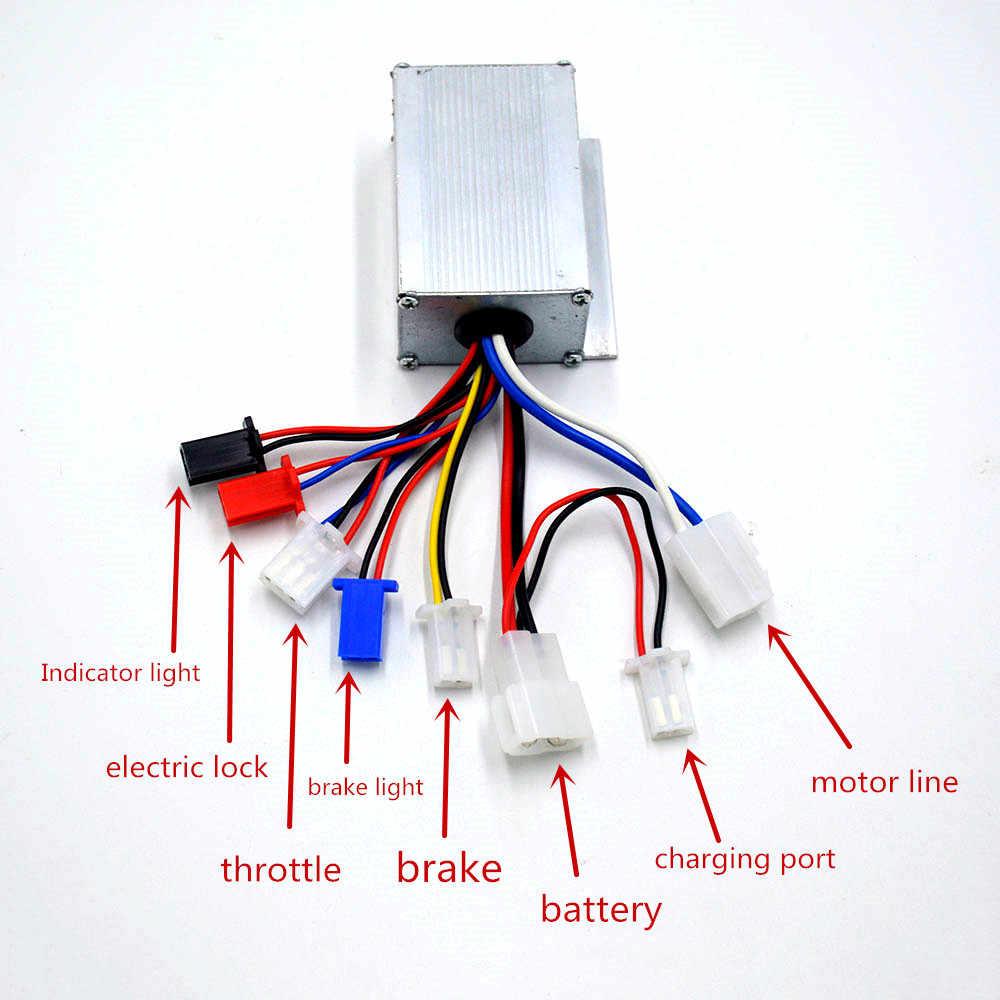 חשמלי מנוע מוברש מהירות בקר תיבת 24 V/36 V/48 V 250 W/350 W/ 500W חשמלי אופניים/קטנוע/e-אופניים/מנוע אבזר