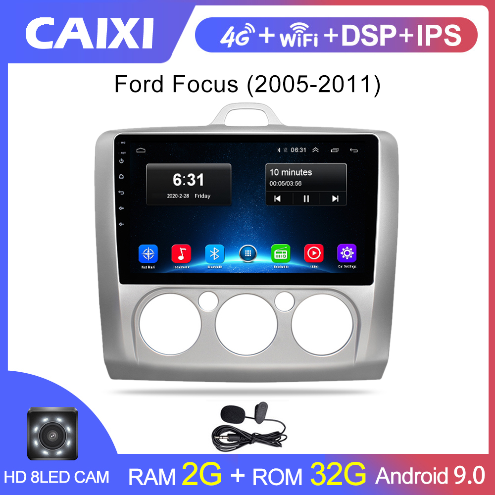 CAIXI For Ford Focus 2 Mk 2 2004-2011 Car Radio Multimedia Video Player Navigation GPS Car 2 din Android 9.0 dvd Player(China)