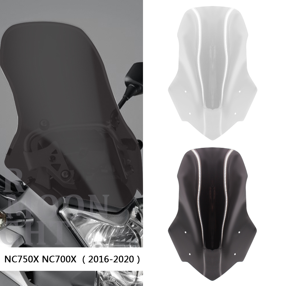 Acessórios para para-brisa de motocicleta, para-brisa para carenagem, para honda nc700x nc750x nc 750x700 2016 - 2020 2019 2018 2016