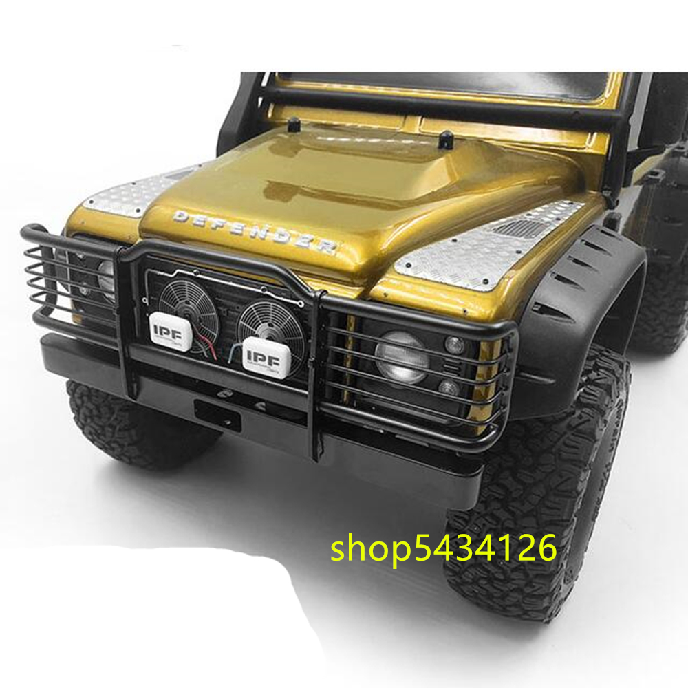 Stainless Steel Front Bumper For <font><b>1/10</b></font> <font><b>Rc</b></font> Car Traxxass Trx4 Defender Remote Control Car <font><b>Rc</b></font> Crawler <font><b>Accessories</b></font> Parts image