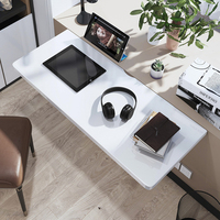 Folding table computer laptop table Wall hanging dining kitchen table foldedable study desk solid wood MDF white