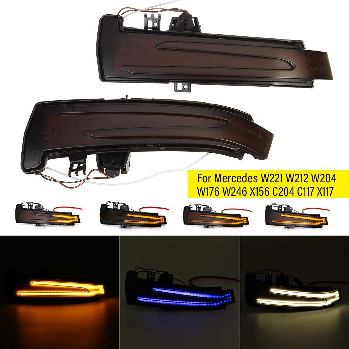 2 шт., светодиодсветильник поворотники для Mercedes Benz W176 W246 W204 W212 C117 X156 C204 X117