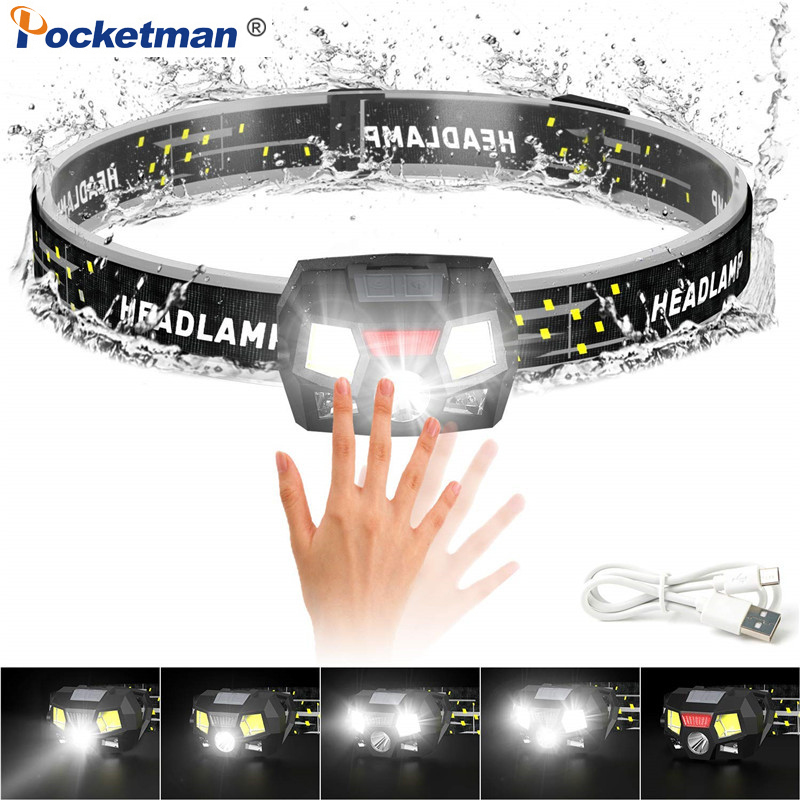 Lightweight Torches IPX6 Running head torch Head Torch Rechargeable