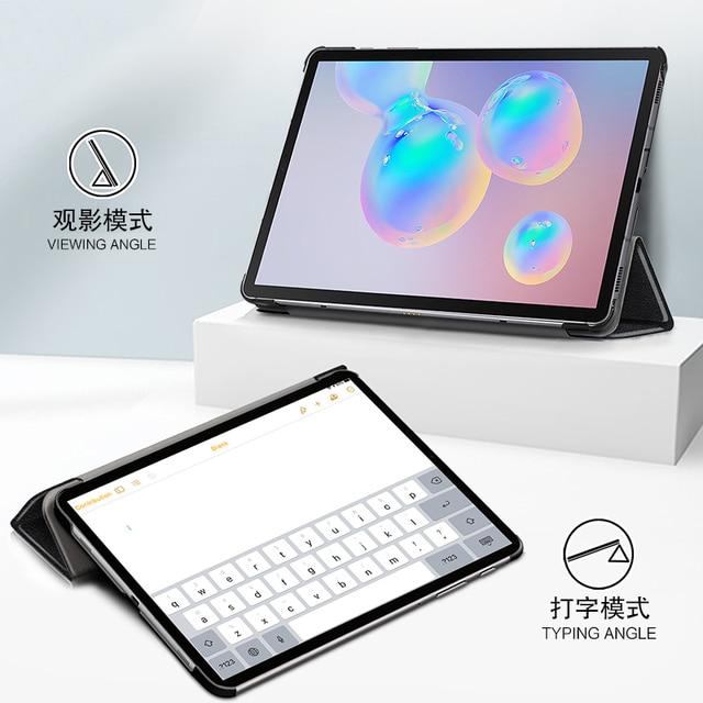 Funda para Samsung Galaxy Tab S6 Lite 10,4 SM-P610 SM-P615 de 10,4 pulgadas, funda protectora para Tablet, Funda de cuero PU con soporte