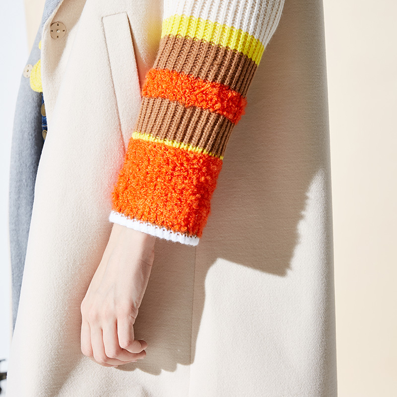 Vero Moda Women's New Stitching Color Matching Detachable Fur Collar Coat  318409504 16