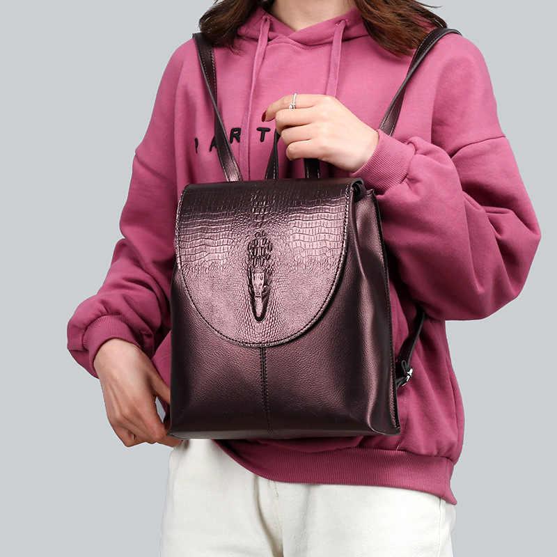 MANHAN kobiet plecak wysokiej jakości PU skórzany plecak kobiet 2020 nowy modny plecak kobiet o dużej pojemności plecak szkolny