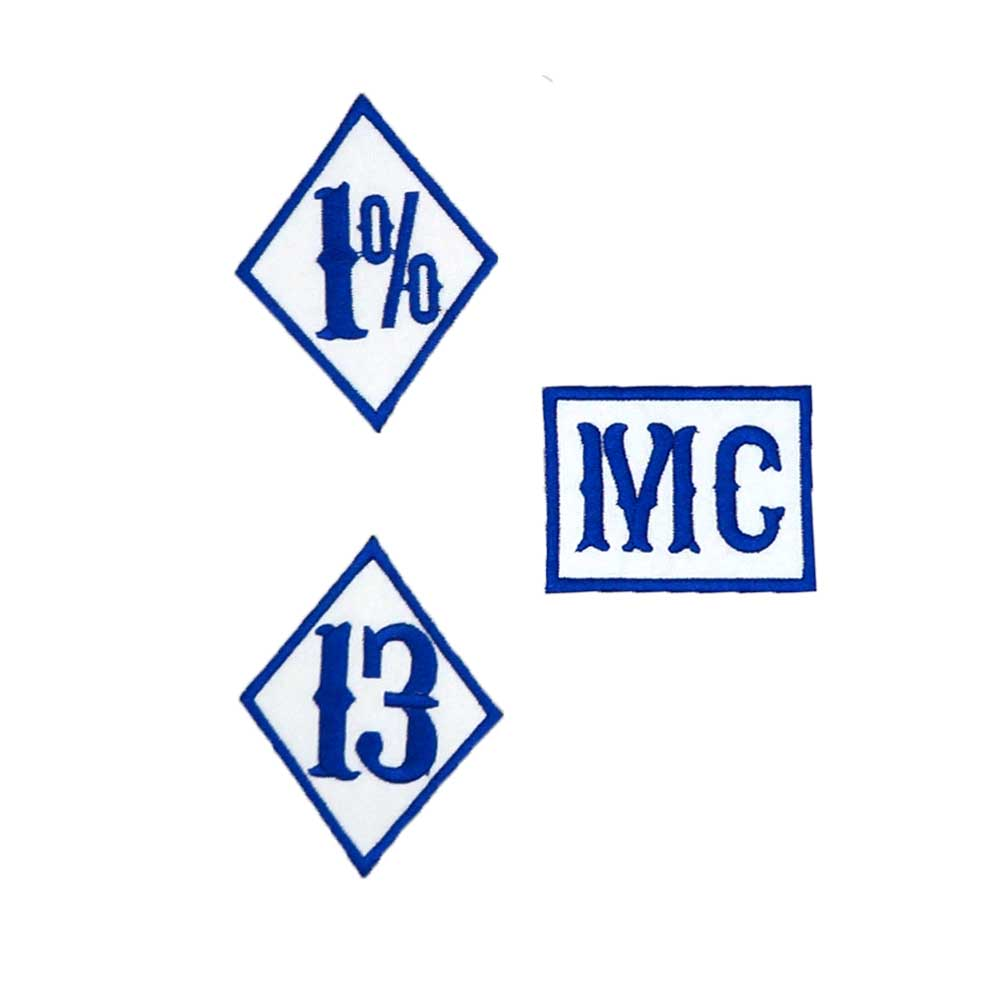 <font><b>1</b></font>% 13 <font><b>MC</b></font> NAME TAG <font><b>PATCH</b></font> Embroidered iron on backing image