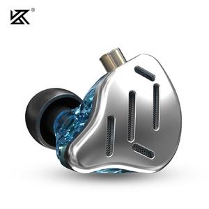Image 2 - KZ ZAX Headset 16 Units HIFI Bass In Ear Monitor Hybrid technology Earphones Noise Cancelling Earbuds 7BA+1DD Sport Headphones