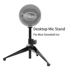 Mic-Stand Clip-Holder Ice-Table Blue Snowball Boom Desktop Tripod for Mike Mount-Clamp