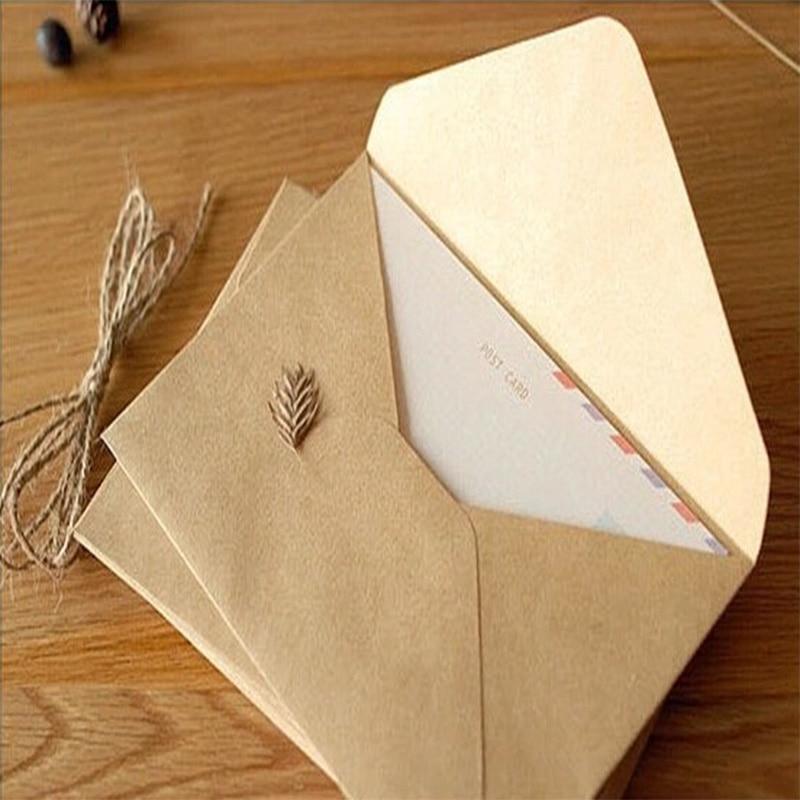 50PCS/lot NEW Vintage simple Kraft paper envelope 16*11cm diy Gift envelopes for wedding red envelope supplies