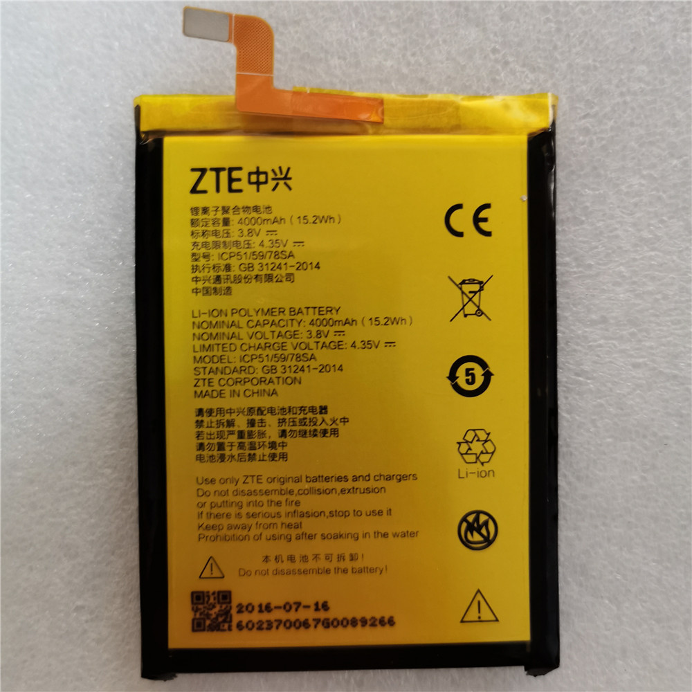 3.8V 4000mAh 545978 / ICP51/59/78SA For ZTE Blade A601 / A601N / BA601 / BA601N / Voyage Mini Battery|Mobile Phone Batteries| |  - title=
