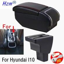 Compartimento de reposabrazos para coche Hyundai I10, caja de almacenamiento giratoria con interfaz USB, accesorios de decoración
