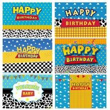 Gelukkige Verjaardag Speelgoed Foto Achtergrond Jongens Kids Verjaardag Ster Verhaal Party Decor Decoraties Foto Achtergrond Fotografie Photobooth