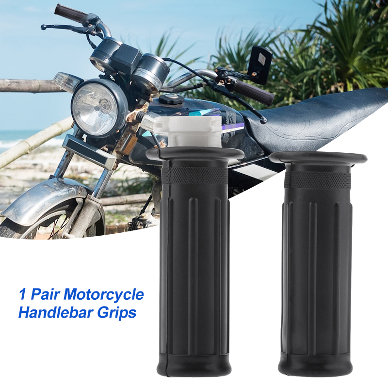 "1 Pair Universal Motorbike Handlebar Racing Motorcycle Handlebar For 7/8"" Handlebars Yamaha PW50 PY50 Etc Motorcycle Accessories-in Grips from Automobiles & Motorcycles"