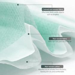 50 sztuk jednorazowe Maska przeciwpyłowa zielona 3 warstwy koreański Non Face dobra oddychalność Maska codzienne maski ochronne 3