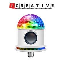 Mini Bluetooth Speaker RGB Stage Light Sound Actived Auto Rotating Magic Disco Ball DJ Light LED Stage Effect Lighting Six Mode
