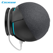 Cozycase Wall Mount for Alexa Echo Dot 4th Generation, Built in Cable Management Stand Holder for Bedroom Kitchen Bathroom