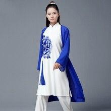 3 delige Set Vrouwen Chinese Warrior Kostuum Wushu Kleding Femal Kung Fu Outfit Taichi Zwaardvechter Kostuum Tai Chi Uniform TA1844
