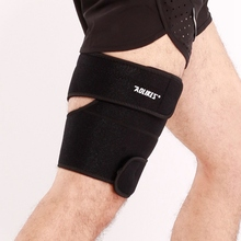 1pc Thigh Guard Elastic Mountaineer Protector Upper Leg Sleeve Cover Wrap Outdoor Climbing Running Sportswear Accessories