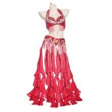 Ensemble de 2 pièces pour femme, ensemble professionnel, Costume avec perles orientales, soutien-gorge avec frange, taille S-XL